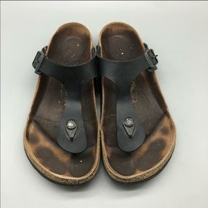 Birkenstock classic black gizeh thong sandals